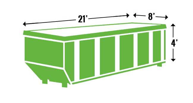 20 yard roll off dumpster for rent