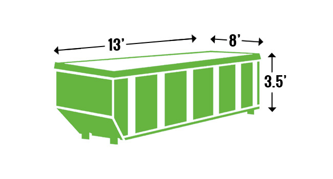 13 yard roll-off dumpster rental